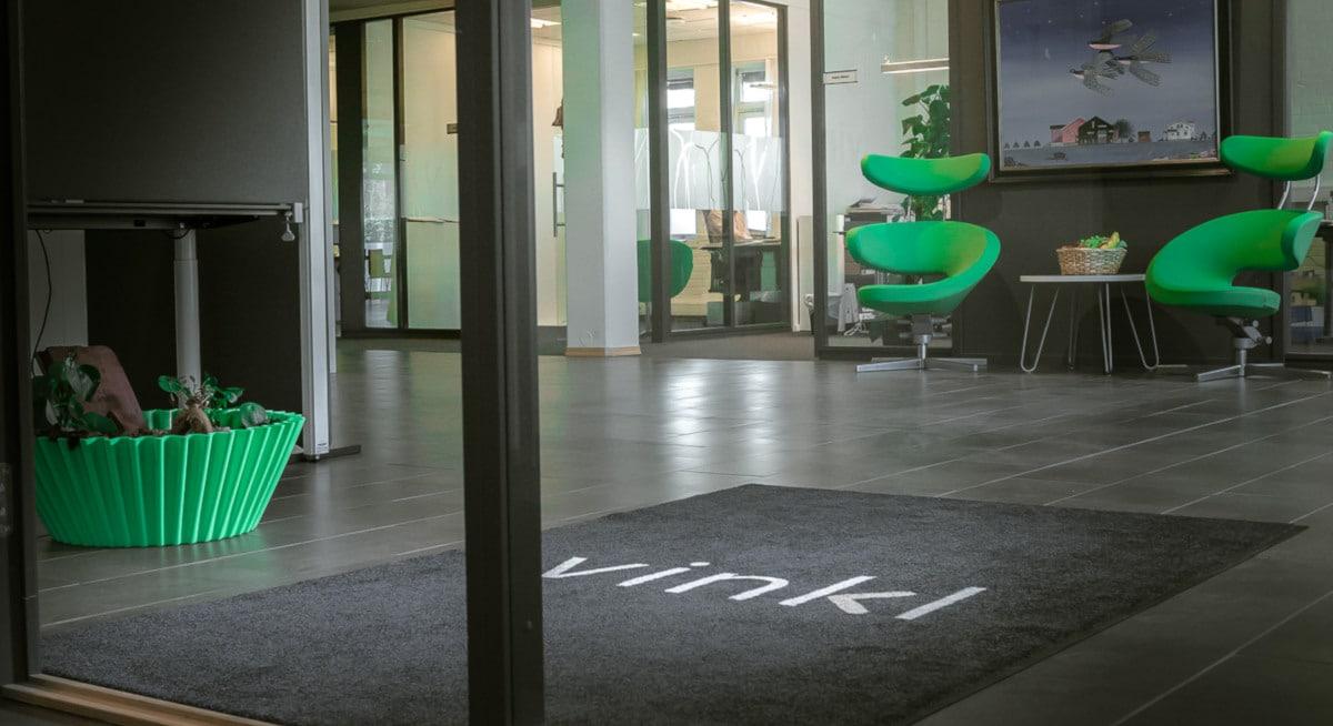 logomatter i inngangspartiet til Vinkl